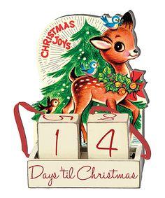 'Days 'til Christmas' Countdown Block Set by Primitives by Kathy #zulily #zulilyfinds