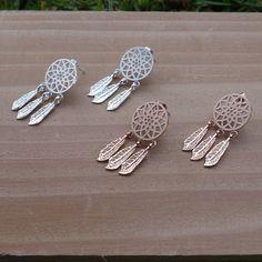 Dream Catcher Stud Earrings, Trendy and Stylish Jewelry, Minimalist Earrings, Unique Earrings, Women / Teen Girls Fashion Jewelry by ilovejewelryla