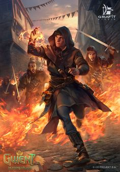 Renegade Mage, Grafit Studio - The Witcher Fantasy Wizard, Fantasy Story, Fantasy Male, High Fantasy, Fantasy Warrior, Fantasy Rpg, Medieval Fantasy, Fantasy Artwork, Dungeons And Dragons Characters