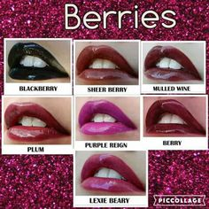Berry swatches
