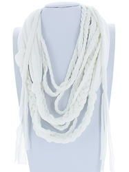 White Braided Infinity Scarf Color Combinations, Infinity, Scarves, Braids, Boutique, Pattern, Fashion, Color Combos, Scarfs