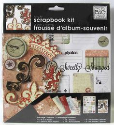 8 x 8 Scrapbook Kit.... Papers Stickers, $3.75