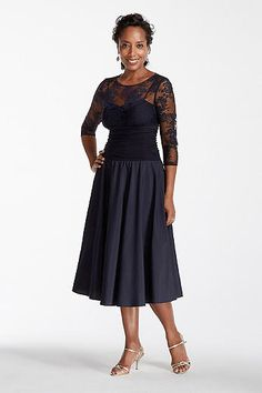 280f8d7c8280d 3 4 Sleeve Illusion Sweetheart Neckline Dress JH4M6028 Mothers Dresses