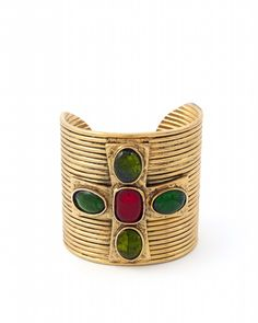 8ab43d095e A Robert Goossens for Les Paruriers Byzantine style cross cuff bangle