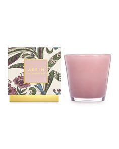 AERIN Pink Climbing Rose Candle - Blossoming pink roses are blended with hints of mandarin orange and fruity touches of Asian lychee and Anjou pear.