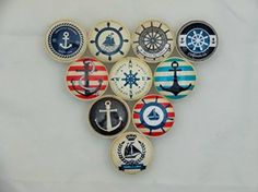 Set of 10 Anchors Away Nautical Cabinet Knobs Drawer Knobs for sale online Beach Theme Kitchen, Nautical Kitchen, Kitchen Decor Themes, Nautical Nursery, Nautical Pattern, Beach Kitchens, Kitchen Cabinet Knobs, Wood Cabinets, Kitchen Cabinets
