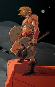 antoine dodé: HE-MAN , Musclor fan art Cartoon Cartoon, Thundercats, Comic Books Art, Comic Art, Marvel Dc, Science Fiction, She Ra Princess Of Power, Sword And Sorcery, Universe Art