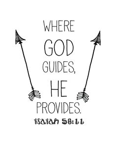 Where God Guides He Provides Scripture Isaiah 58:11 Free Printable from LockInLife