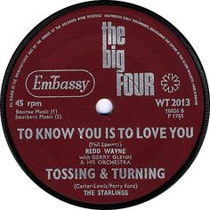 The Big Four (To Know You Is To Love You / Tossing And Turning) - Redd Wayne / The Starlings (WT2013) Jan '65