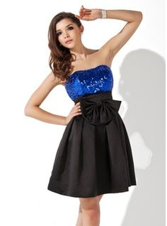 Homecoming Dresses - $129.99 - Empire Sweetheart Short/Mini Satin Sequined Homecoming Dress With Ruffle  http://www.dressfirst.com/Empire-Sweetheart-Short-Mini-Satin-Sequined-Homecoming-Dress-With-Ruffle-022020935-g20935
