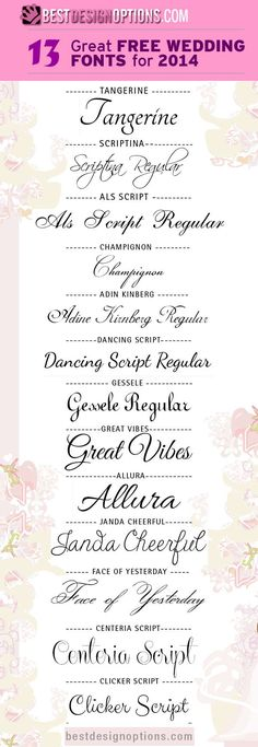 13 Great FREE WEDDING FONTS for 2014 tjn