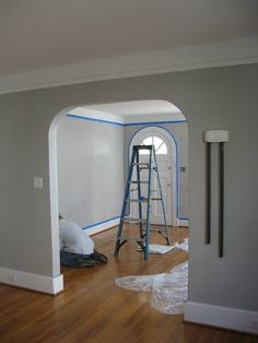 Paint color for our master bedroom, my sons room, and the garage - Sherwin Williams SW7649 Silverplate
