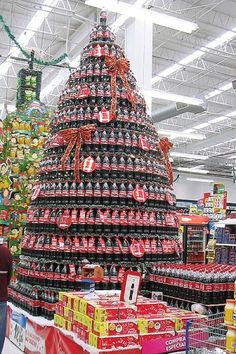 A Coca-Cola Christmas display in a Mexican superstore.