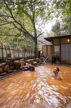 Open-air bath, Arima, Kobe, Japan 有馬温泉 露天風呂