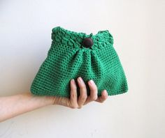 PDF crochet PATTERN handbag / purse / clutch / little girl bag - DIY tutorial - Quick and easy gift - Instant download via Etsy
