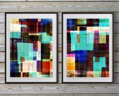 two prints, set of two, Geometric art, Abstract geometric art, , picture sets, set of 2, art set, set of 2 prints, Scandinavian art, Amy Lighthall