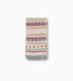 Triangle shapes knit scarf ZARA KIDS