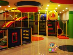 Commercial Playground Structures & Play Equipment by International Play (Iplayco) installed at a shopping center.  At Iplayco we design, manufacture and install indoor play structures & equipment, soft toddler play areas, climbing walls, toddler sport courts, Tuff Stuff soft sculpted foam playtime areas for younger children, Ballistic ball cannon arenas, Air Trek and custom theming. Iplayco is also licensed installers for EyeClick, EyePlay and Lightspace. www.iplayco.com