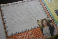 little red desk: DIY Baby Book