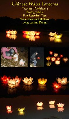 Water Lanterns - on water, balcony or on grass to make a lighted walkway