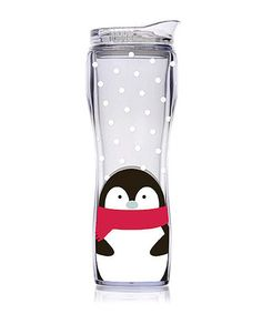 Take a look at this Slant Penguin 14-Oz. Hourglass Tumbler by Festive Entertaining Collection on #zulily today!