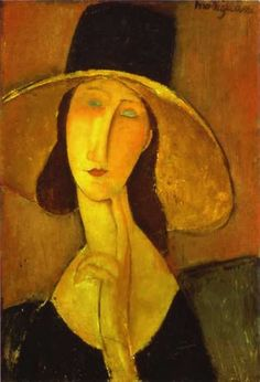Amedeo Modigliani Portrait of Woman in Hat painting for sale, this painting is available as handmade reproduction. Shop for Amedeo Modigliani Portrait of Woman in Hat painting and frame at a discount of off. Amedeo Modigliani, Modigliani Paintings, Oil Paintings, Paintings Famous, Italian Painters, Italian Artist, Oil Painting Reproductions, Rembrandt, Art Plastique