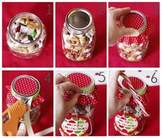 Ca-ute Packaging for holiday chex mix!