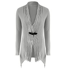 230cc69fdb Yamally 9R Women VNeck Long Sleeve Sweater Casual Knitted Cardigan Casual  Outwear Gray L  gt  gt
