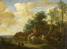 Pieter de Molijn : Halt at a Roadside Inn (Rijksmuseum (Netherlands - Amsterdam)) 1595-1661 ピーテル・デ・モリン