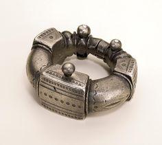 Tuareg woman's anklet - silver alloy