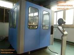 side view of CM-A4 full automatic blow molding machine, 4 cavities, for PET bottle up to 2L, about 3800bph