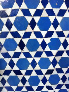 Alzama synagogue, Marrakech -- turn this tile work into a quilt!
