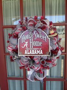 Alabama Crimson Tide Deco Mesh Door Wreath by CrazyboutDeco, $99.00