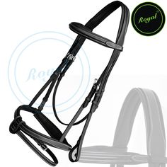Royal Full Padded Anatomic Head Piece Bridle with U Shaped Detachable Flash & Reins. Regular price $108 Sale price $88 (Black/ SS Buckle)