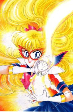 The lovely Miss Dream has provided scans of the Sailor V kanzenbans! As I've mentioned before, colored pages from Sailor V's initial magazine run are exceptionally rare (to the point of being nearly impossible to find) because 1.) Unlike Sailor Moon, which had six in total, Sailor V never received any artbooks (fingers crossed that Naoko will change that!) and 2.) the colored pages were only printed in RunRun magazines in the 90s; RunRun went out of business a long time ago.