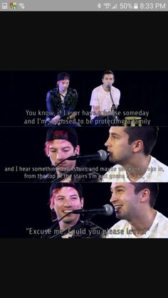 'S'cuse me? Could you please leave' said in the clique everyday XD