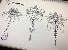 Lotus designs available by Boho Tattoos, Classy Tattoos, Spine Tattoos, Pretty Tattoos, Body Art Tattoos, Simplistic Tattoos, Subtle Tattoos, Unique Tattoos, Small Tattoos