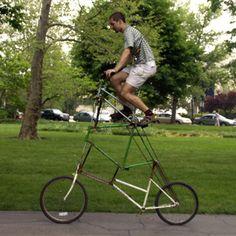 Double decker bike and Sam Quintal '06.