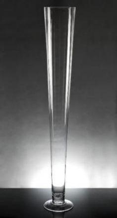 """H-24/"""" Trompeta Pilsner Jarrones De Alta De Vidrio Centro De Mesa Boda Jarrón Regalo Transparente 6 un"""