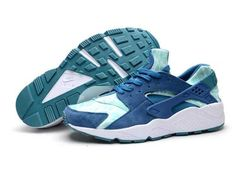 sale retailer 4fa1a f9310 Nike Air Huarache Blue Green Abyss Turbo Green April 2018 New Arrival