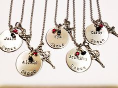 Hand stamped personalized Dance necklace, ballet, jazz, dance team, dancers gift, gifts or dancers, on Etsy, $16.00
