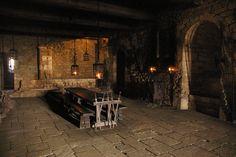 Fosc.  Interior of Beynac castle, in the Perigord (France).