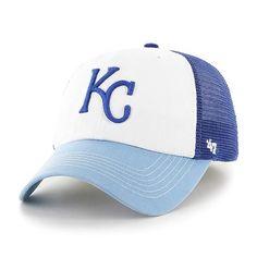 1fd75fe5964 Kansas City Royals 47 Brand Blue White McKinley Closer Mesh Flexfit Hat Cap
