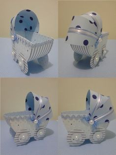 Lembrancinha de maternidade Carrinho-de-bebê Scrap