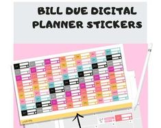 160 Bill due digital planner stickers Goal Tracking, Planner Book, Productive Day, Planner Organization, Setting Goals, Planner Stickers, Etsy Seller, Handmade Items, How To Plan
