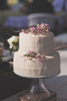 White Floral Wedding Cake