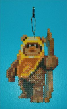 Star Wars Wicket perler bead Bag Tag by YumesPixelCrafts