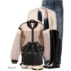 Jeans And Riding Boots Contest by sherryvl on Polyvore featuring Alexander Wang, Jean-Paul Gaultier, Roberto Cavalli, Marc by Marc Jacobs, Joie, Henri Bendel and Fat Face