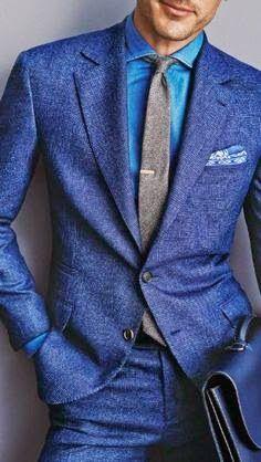 Nice blue suit.
