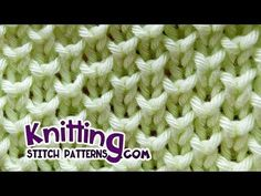 Bee stitch* - Looks like Pearl Brioche Knitting. The Bee stitch uses the Knit one below technique to create an interesting textured fabric that looks like the Pear Brioche stitch. It is an easy textured stitch pattern. How to knit the Honeycomb Brioche St Knitting Stiches, Easy Knitting Patterns, Knitting Videos, Knitting Charts, Knitting For Beginners, Loom Knitting, Knitting Designs, Baby Knitting, Stitch Patterns